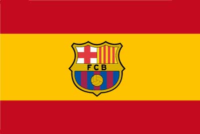 Bandera España Barcelona personalizada