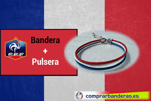 Bandera Francia + pulsera