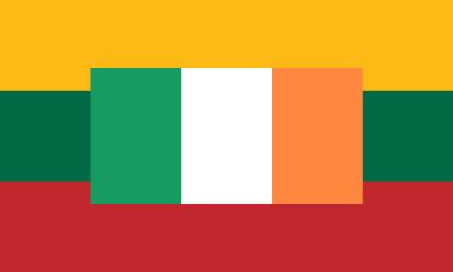 Bandera Lituania - Irlanda