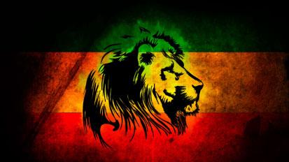 Bandera Rastafari personalizada león