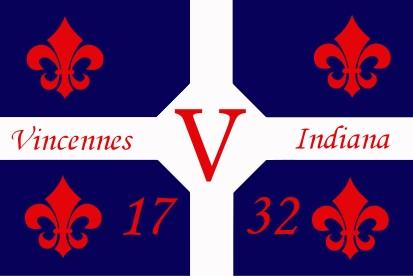 Bandera Vincennes, Indiana