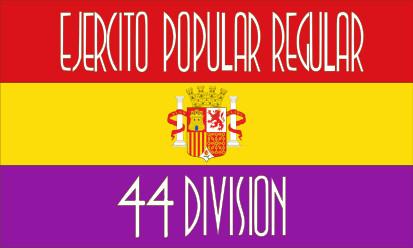 Bandera Ejercito popular Regular 44 División
