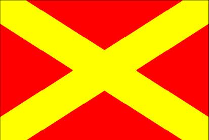 Bandera Pista de emergencia cerrada