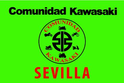 Bandera Comunidad Kawasaki Sevilla Verde