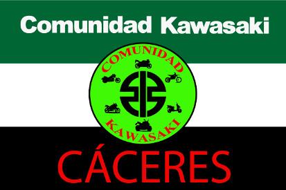 Bandera Comunità Kawasaki Extremadura Caceres