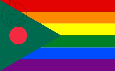 Drapeau Bangladesh Gay