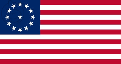 Bandera Estados Unidos Cowpens (1777 - 1795)
