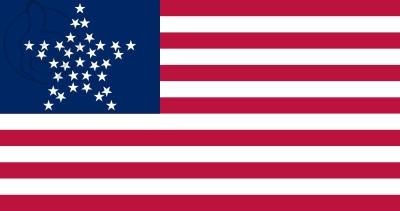 Bandera Estados Unidos GreatStar (1859 - 1861)