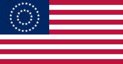 Bandera Estados unidos Medallion Centennial (1867 - 1877)