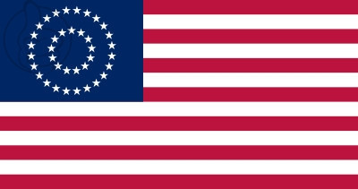 Bandera United States Medallion Centennial (1867 - 1877)