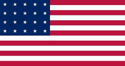 Bandera Estados Unidos (1818 - 1819)