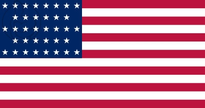 Bandera Estados Unidos (1865 - 1867)