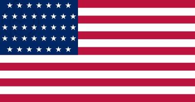 Bandera Estados Unidos (1877 - 1890)