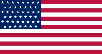 Bandera Estados Unidos (1896 - 1908)