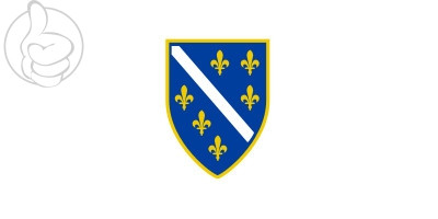 Bandera República de Bosnia-Herzegovina (1992-1997)
