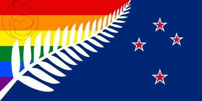 Bandera New Zealand GAY