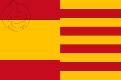 Drapeau Espagne et Catalogne