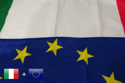 Bandera Italy - European Union
