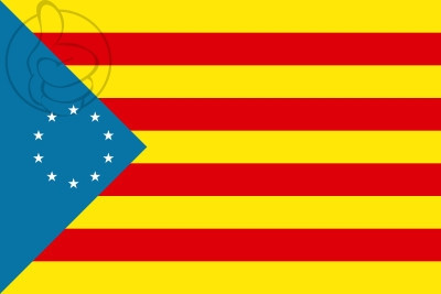 Drapeau Estelada de los Países Catalanes Independentistas
