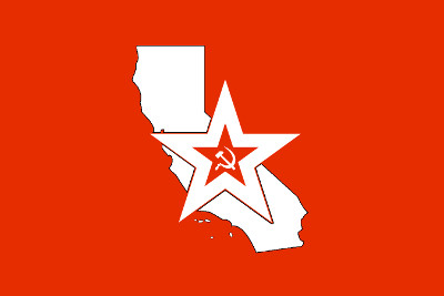 Bandera California Red Army