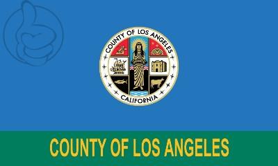 Bandera Condado de Los Ángeles