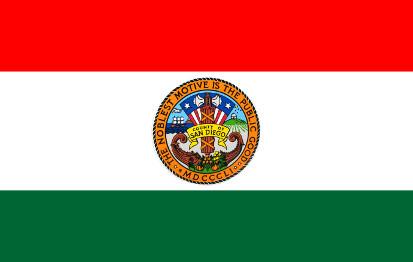 Bandera Condado de San Diego