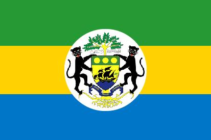 Bandera Gabón con Escudo
