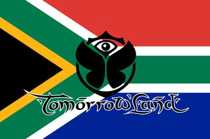 Bandera Tomorrowland Sudáfrica