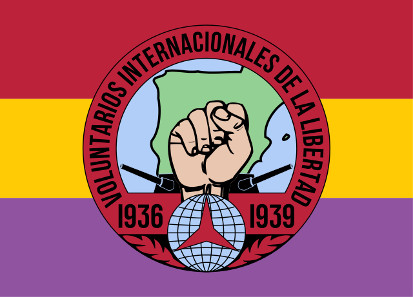 Drapeau Espagne Volontaires Internationaux Liberté