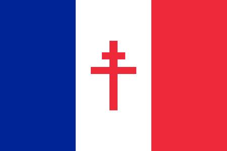 Bandera France Libre de De Gaulle