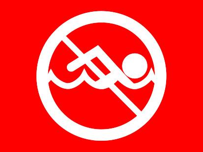 Bandera Prohibido el baño