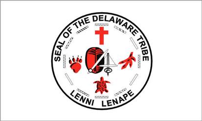Bandera Sello de la tribu Delaware