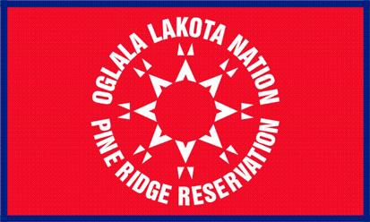 Bandera Oglala Sioux versión alternativa