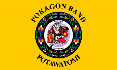 Bandera Pokagon Band Potawatomi