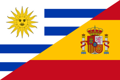 Bandera Uruguay - España