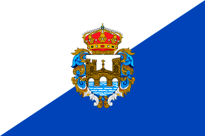 Bandera Provincia de Pontevedra oficial