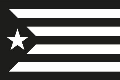 Bandera Estelada negra y blanca