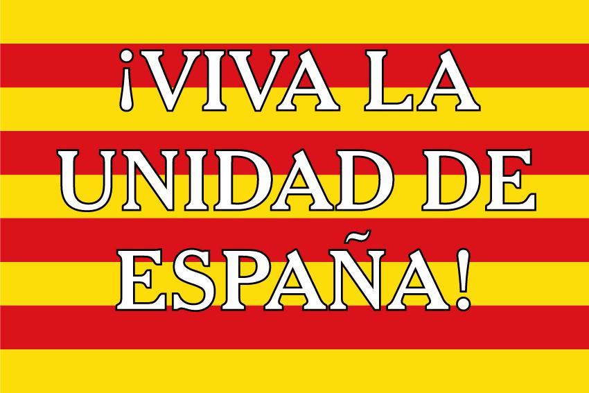 Bandera Unidad de España Cataluña