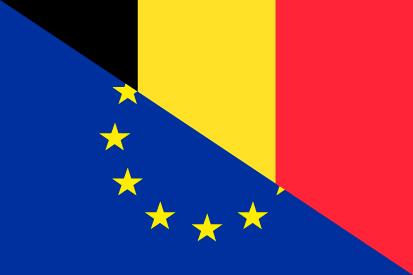 Bandera Bélgica UE