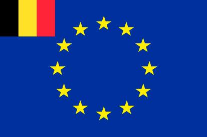 Bandera Europa+Bélgica