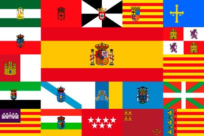 Bandera España y sus comunidades