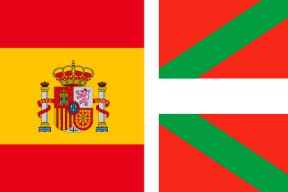 Bandera España y País Vasco