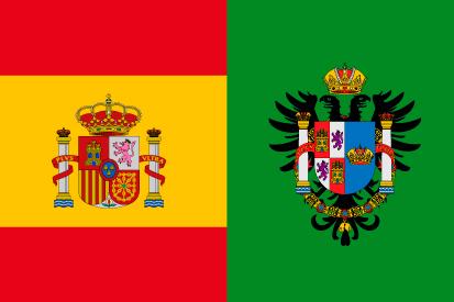 Bandera España y Provincia de Toledo