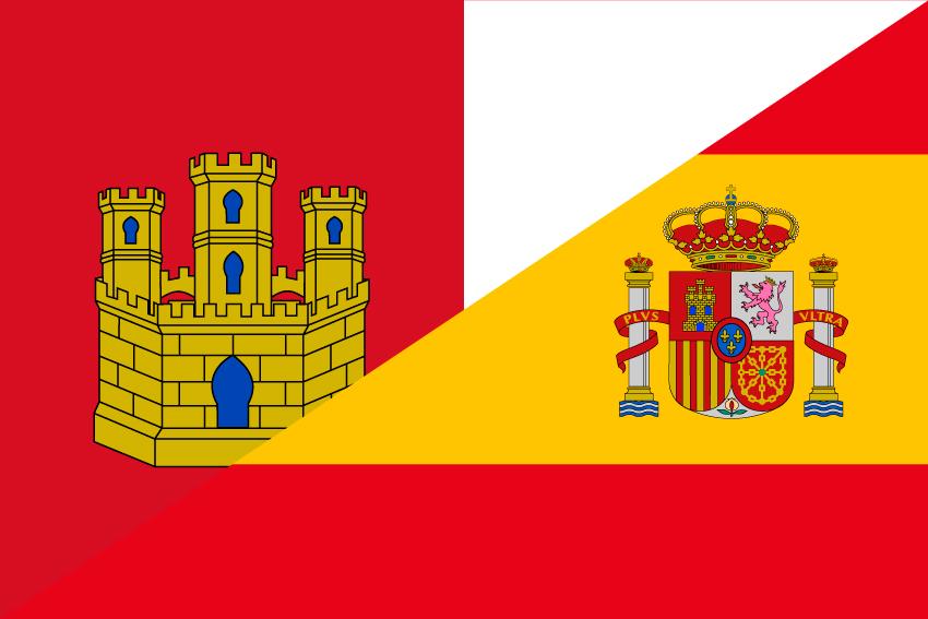 Bandera España-Castilla la Mancha