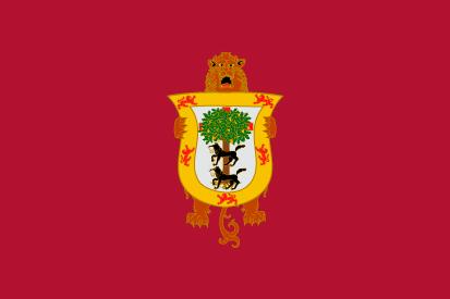 Bandera Vizcaya con escudo antiguo