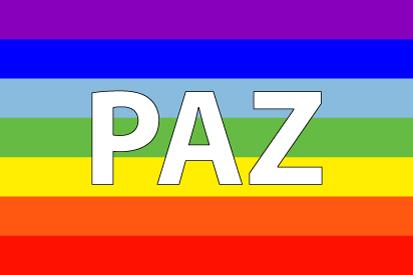 Bandera Paz arcoiris