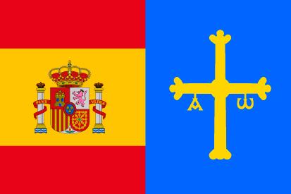 Bandera España-Asturias