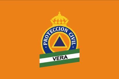 Bandera Protección Civil Vera