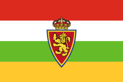 Bandera La Rioja y Real Zaragoza