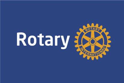 Bandera Rotary internacional azul